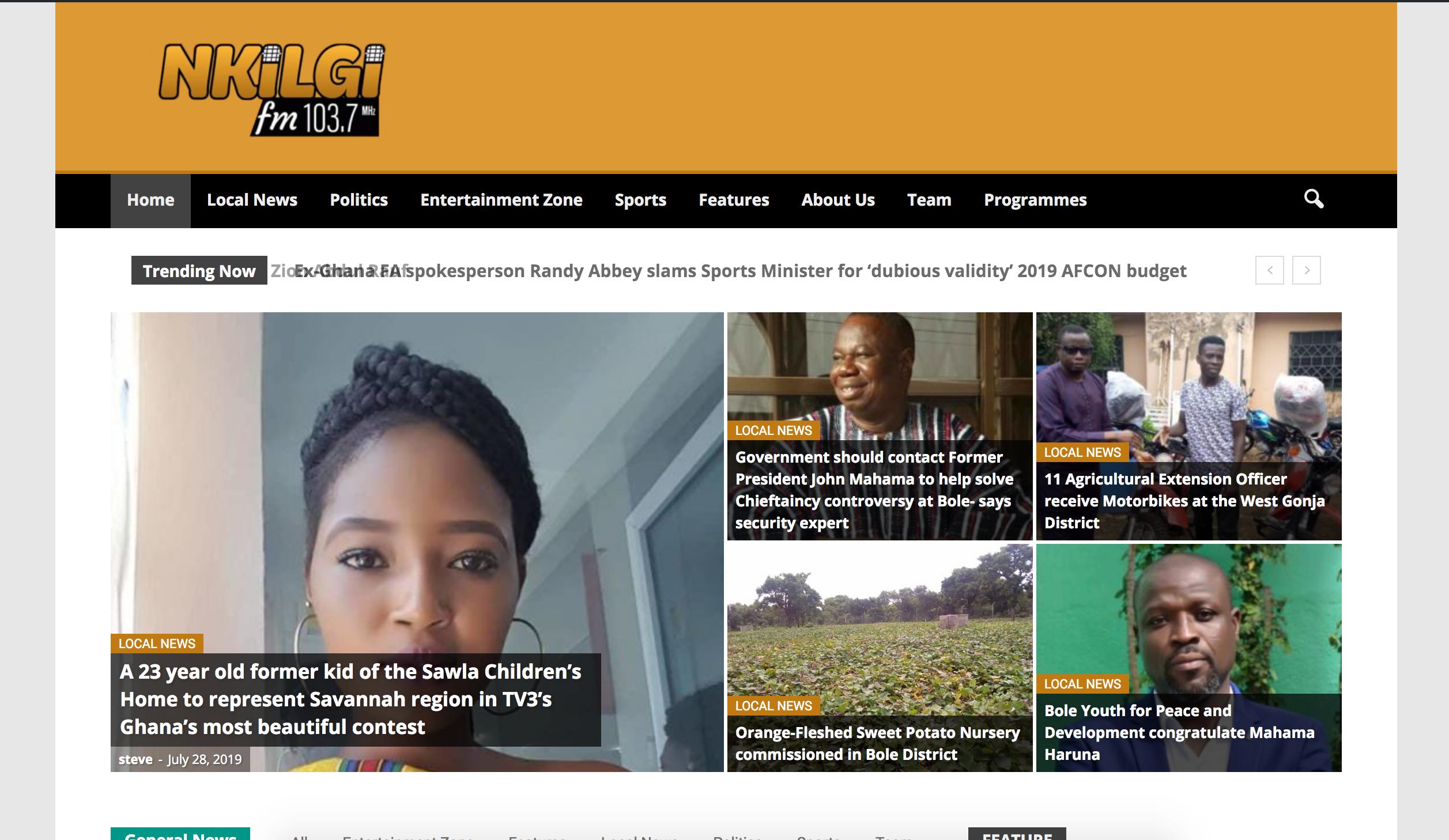 Bole Based Nkilgi Fm Launches Website Online